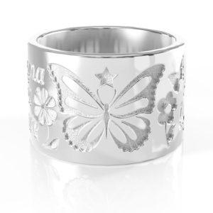 <h2>Rodio bianco</h2><p>Trattamento galvanico simile all'argento lucido ma ancora più bianco e resistente nel tempo.</p>